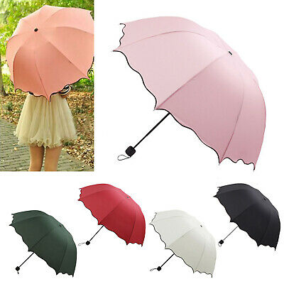 Portable Super Compact Folding Windproof Travel Umbrella Women Girl Summer UK
