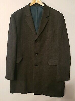 MOON FOR MARKS /& SPENCER M/&S PURE WOOL BLUE TEXTURED TAILORED JACKET 44 48 S M