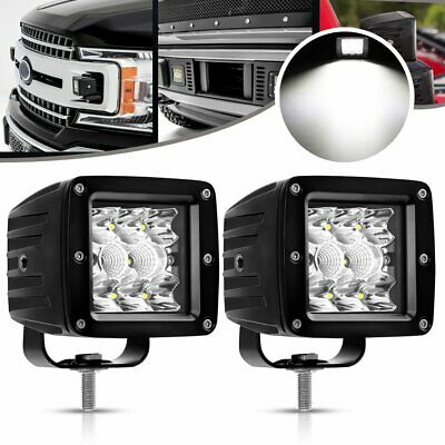 2X 3inch 4000LM CREE LED Work Light Cube Pods Driving Work SPOT Light /FLOOD 24