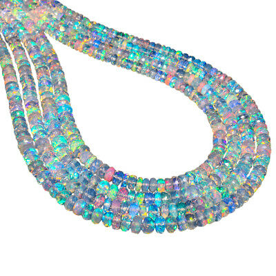 5-100cts AA+ Natural Ethiopian Opal Beads Stones Jewelry Making Strands