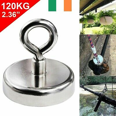 120Kg Salvage Strong Recovery Magnet Neodymium Hook Treasure Hunting Fishing