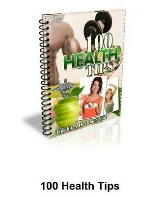 100 Health tips PDF eBook with master resell rights