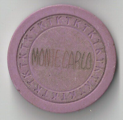 N/D Las Vegas Monte Carlo Club 4Th Edt Casino Chip Tk Mold Very Rare Circa 1955