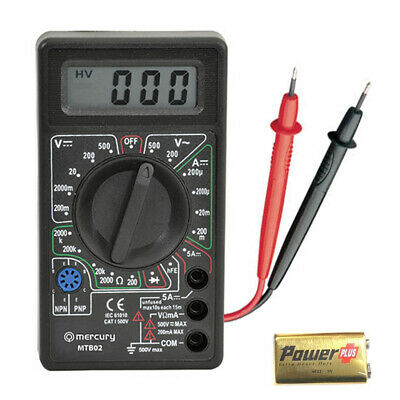 Mercury 600.102 Multimeter Electronic Multi Tester Digital Meter Multimeter