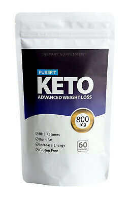 Purefit Keto Advanced Weight Loss Capsules Fat Burn Carb Block Ketosis 800mg!