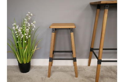 Industrial Rustic Wooden Breakfast Bar Chair Stool (Dx6416)