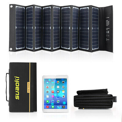 Suaoki 60W DC USB Foldable Solar Panel Battery Charger Power Bank For Phone PC