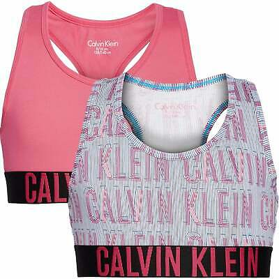 Girls 2 Pack Intense Power Bralette - Raspberry Overprint/Raspberry Sorbet