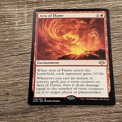 MTG - Aria of Flame, Modern Horizons, NM Condition