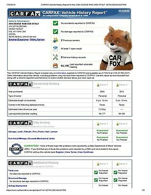 Within 5 MINUTES 100% Original Carfax Vehicle Car History Report By Vin Or Plate