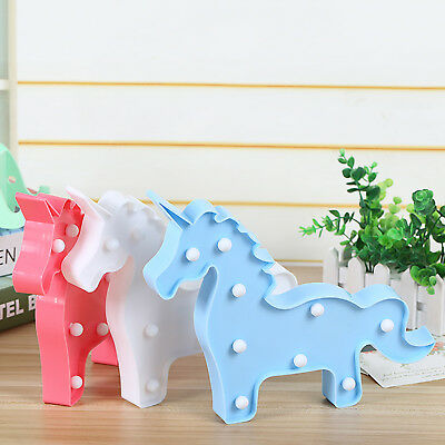 Lovely Gift 3D Cute Unicorn Led Night Lights Table Lamps Wall Bedroom Decoration