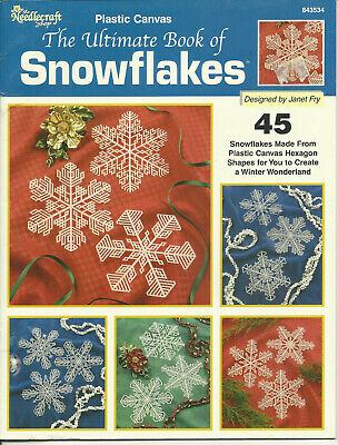The Ultimate Book of Snowflakes Plastic Canvas Pattern Leaflet 45 designs