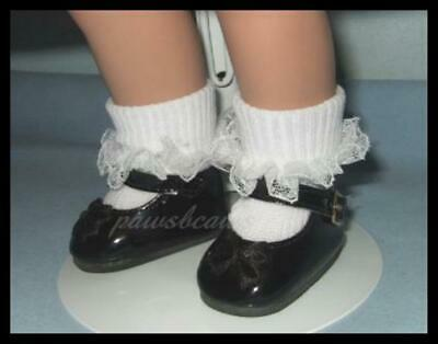 """Debs ORCHID T-Strap Cut Out Doll Shoes For 10/"""" Ann Estelle Sophie Patsy"""