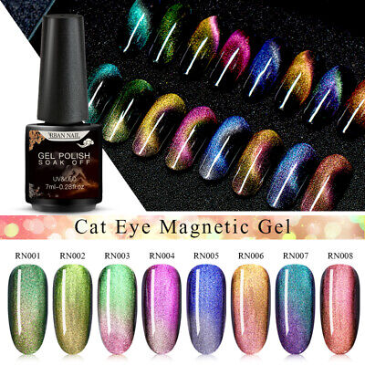 RBAN NAIL 5D Chameleon Magnetic Gel Polish Cat Eye UV Gel Soak Off Nail Art Gel