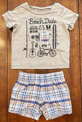 Carter's Baby Boy 2-Piece Outfit T-Shirt & Shorts - SIZE 9 MOS