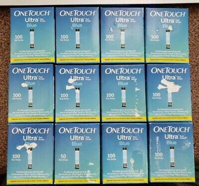100 One Touch Ultra Blue Test Strips 08/19 NIB 8/19 Expires 08/2019 1 BOX