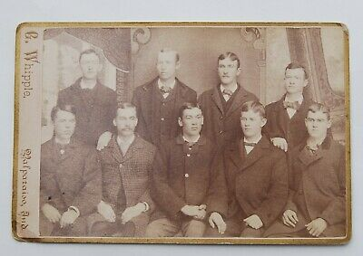 Antique Cabinet Card Photo Young Men Holding Hands Valparaiso, Ind Gay Int