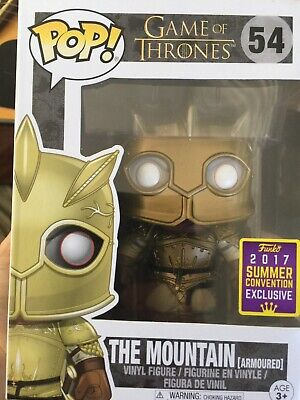 Funko Pop! The Mountain Armored Game of Thrones SDCC 2017 Exclusive BRAND NEW