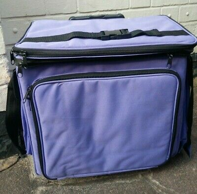 Storage Wheeled Trolley Case Craft Hobby Multi Pocket Tote Knitting Sewing Tools