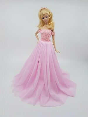 New Barbie doll clothes outfit princess traditional wedding gown dress pink
