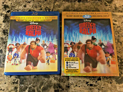 Wreck-It Ralph Ultimate Collector's Edition (Blu Ray 3D/2D/DVD) 3 -Disc w Slip!