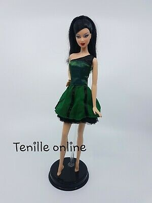 New Barbie doll clothes fashion outfit dress short pretty green black party