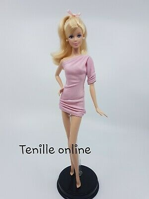 New Barbie doll clothes fashion outfit dress short simple basic light pink