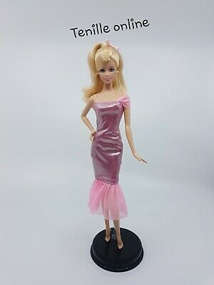New Barbie doll clothes fashion outfit dress shiny glittery pink cocktail