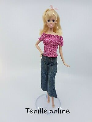 New Barbie doll clothes fashion outfit Jeans top casual pink