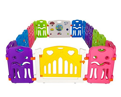 Cannons Plastic Baby Den Playpen with Games Station Small Panels, 240 160 cm