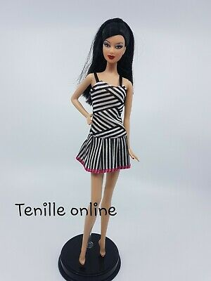 New Barbie doll clothes fashion outfit dress pretty stripe