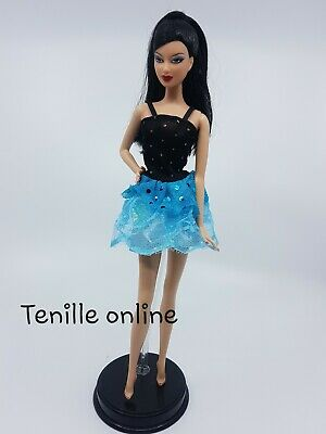 New Barbie doll clothes fashion outfit dress pretty blue party