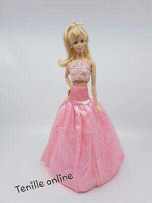 New Barbie doll clothes fashion outfit long skirt pretty pink