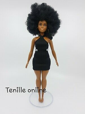 New curvy Barbie clothes outfit short dress casual fashionista little black