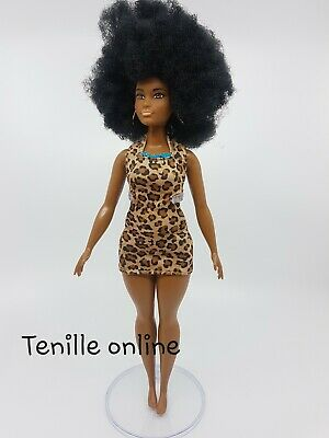 New curvy Barbie clothes outfit short dress casual fashionista animal print