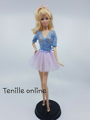 New Barbie doll clothes fashion outfit skirt tutu shirt blue purple