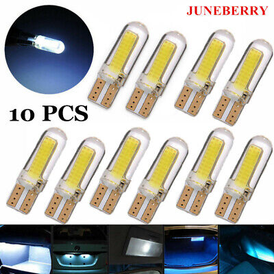 (10)Bulbs LED T10 194 168 W5W COB 8SMD CANBUS Silica Bright White License Light