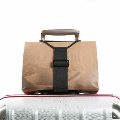 1x Adjustable Travel Luggage Suitcase Belt Add A Bag Strap Carry On Bungee Belts