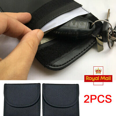 2 Pack Car Key Keyless Anti-Theft Fob Signal RFID NFC Blocker Pouch Faraday Bag