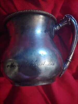 Merry Christmas 1905 Barbour Silver Co. Engraved Creamer