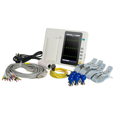 LCD Touch Screen Full Digital 3Channel Electrocardiograph ECG/EKG Machine System
