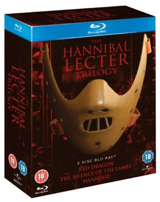 """Hannibal Lecter Trilogy Complete Collection 3 Disc Box Set Blu-Ray Reg B """"New"""""""
