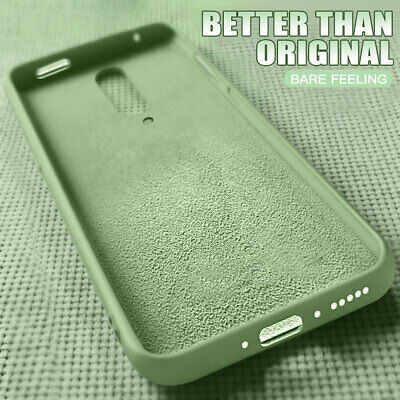 Slim Liquid Silicone Back Case for OnePlus 7 Pro 6T Shockproof Rubber Gel Cover