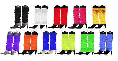 6x Leg Warmers Fluro Neon Dance Boot Covers 70s 80s Disco Party Legwarmers Party