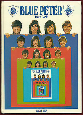 📘 Blue Peter Tenth Book 📘 Annual Hardcover 1973 📘 Vintage Unmarked