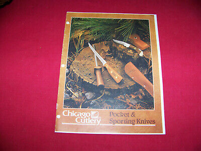 1987 Chicago Cutlery Knife Catalog Copy Reference Book Flyer