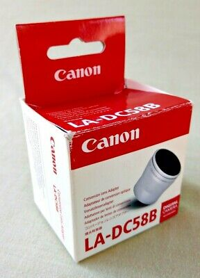 Original Canon LA-DC58B Conversion Lens Adaptor ~ Boxed