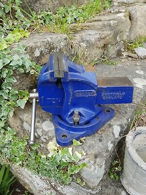 """Record 1 Tonne Vice, 4"""" Jaws On A Swivel Base"""