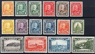 CANADA 1930-31 - COMPLETE KGV ARCH COLLECTION - Scott 162 - 177 - MLH VF XF WOW!