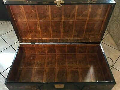 19th century Chinese trunk Chest on stand Antique.